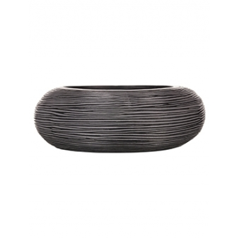 Кашпо Capi nature bowl round rib black