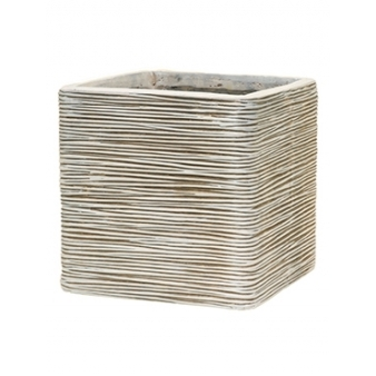 Кашпо Capi nature egg planter square rib ivory