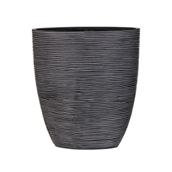 Кашпо Capi nature oval planter rib black