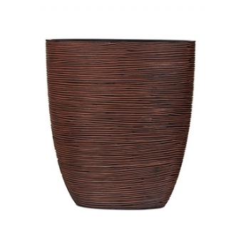 Кашпо Capi nature oval planter rib brown