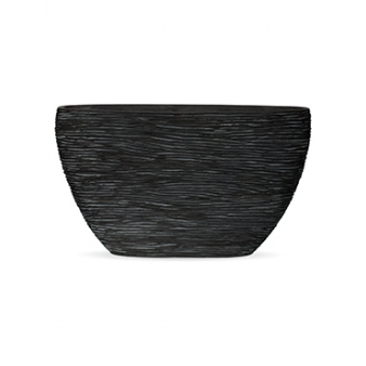 Кашпо Capi nature planter oval high rib black