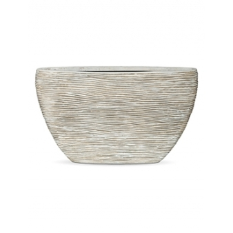 Кашпо Capi nature planter oval high rib ivory