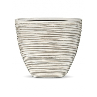 Кашпо Capi nature planter oval rib high ivory
