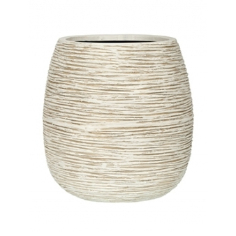 Кашпо Capi nature pot rib ball ivory