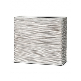 Кашпо Capi nature rectangle rib ivory
